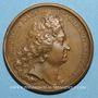 Coins Louis XIV. Paix de Ryswick. Médaille bronze 1697