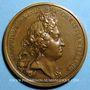 Coins Louis XIV. Prise de Brisach. Médaille bronze 1703