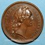 Coins Louis XIV. Prise de Ménin. Médaille bronze 1744