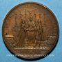 Coins Louis XV. Mariage avec Marie Leszczynska. Médaille bronze 1725