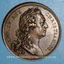 Coins Louis XV. Pose de la première pierre de l'église Saint-Germain. Médaille bronze 1766