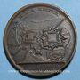 Coins Louis XV. Prise de Kehl. Médaille bronze 1733