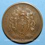 Coins Louis XV. Régiment de la Calotte. Médaille bronze