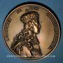 Coins Louis XV. Sacre à Reims 1722. Médaille bronze. Refrappe