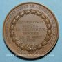 Coins Louis XVIII. Complot du Bazar français. Médaille bronze, 1820