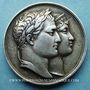 Coins Mariage à Paris de Napoléon I avec Marie-Louise d'Autriche. 1810. Médaille en argent. 32 mm