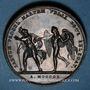 Coins Mariage à Paris de Napoléon I avec Marie-Louise d'Autriche. 1810. Médaille en bronze. 43 mm