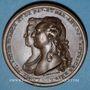Coins Mariages de douze filles dotées par Les Etats - Naissance du Dauphin. 1781. Médaille bronze