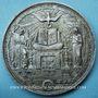 Coins Médaille de confirmation. 1862. Bronze argenté, 69,2 mm