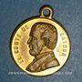 Coins Mort du Comte de Cavour. 6.6.1861. Médaille cuivre jaune à bélière. 23,6 mm