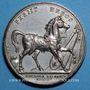 Coins Mort du duc d'Enghien. 1804. Médaille en bronze argenté. 40,6 mm. Gravée par E. Gatteaux