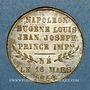 Coins Naissance du Prince impérial. 1856. Médaille en laiton. 23,52 mm