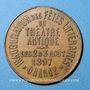 Coins Orange. Inauguration des fêts littéraires du théâtre antique. 1897. Médaille en cuivre