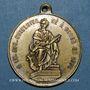 Coins Orléans. François Adrien Boieldieu, compositeur. Médaille laiton argenté
