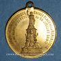 Coins Paris. Erection de la statue de la République. 1880. Médaille laiton
