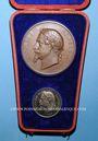 Coins Paris. Exposition universelle.1867. 2 médailles gravées par Ponscarme. Bronze 68 mm ; argent 36,8 mm