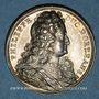 Coins Philippe II, duc d'Orléans, régent de France (1674-1723). Médaille argent gravée par Dassier