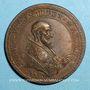 Coins Pie V (1566-1572). Création de la Saint Ligue. Médaille de restitution, bronze
