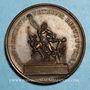 Coins Pie VII (1800-1823). Restitution du Groupe de Laocoon par la France, 1818. Médaille bronze