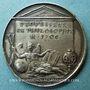 Coins Pierre Bayle. Philosophe (1647-1706). Médaille argent. 28,3 mm. Gravée par Jean Dassier