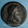Coins Priam, roi de Troie, vers 1550. Médaille bronze coulé. 38,4 mm.