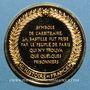 Coins Prise de la Bastille. 1789. Médaille vermeil. Frappe moderne !