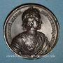 Coins Russie. Mort de Pierre le Grand 1725. Médaille bronze