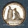Coins Sacre du roi Charles X à Reims. 29.5.1825. Médaille argent