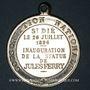 Coins St-Dié (Lorraine, Vosges). Inauguration de la statue de Jules Ferry. 1896. Médaille bronze nickelé