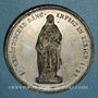 Coins Suisse. Zurich. Fête fédérale de chant. 1858. Médaille étain. 40,7 mm.