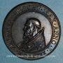 Coins Urbain VII (1590).  Menorah,1590. Médaille de restitution, bronze