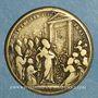Coins Vatican. Benoît XIV (1740-1758). Ouverture de la Porte Sainte. 1750. Médaille bronze