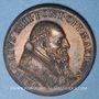 Coins Vatican. Grégoire XIII. Ouverture de la Porte Sainte. 1575. Médaille de restitution, bronze