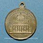 Coins Vatican. Léon XIII (1878-1903). Commémoration du jubilé pontifical... 1883. Médaille laiton argenté