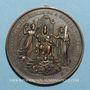 Coins Vatican. Léon XIII (1878-1903). Jubilé sacerdotal. 1887 (1888). Médaille cuivre