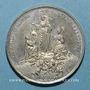 Coins Vatican. Léon XIII (1878-1903). La Vierge au-dessus du monde catholique. 1887. Médaille étain