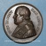 Coins Vatican. Pie IX (1846-1878). Doctrine fondamentale de l'Eglise 1860, an XV. Médaille en cuivre