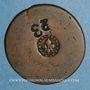 Coins Strasbourg. Objet médailliforme en cuivre, 17-18e siècle