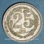 Coins Algérie. Chambre de Commerce d'Oran. 25 cent 1922