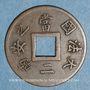 Coins Cochinchine. 1 sapèque 1879 A. Ancre