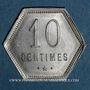 Coins Ile de la Réunion. 10 centimes 1920