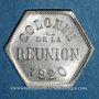 Coins Ile de la Réunion. 5 centimes 1920