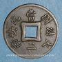 Coins Indochine française. 1 sapèque 1900 A