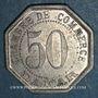 Coins Sénégal. Dakar. Chambre de Commerce. 50 centimes 1920. Frappe médaille