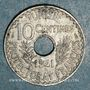 Coins Tunisie. Ahmed II, bey (1348-1361H = 1929-1942). 10 centimes 1941
