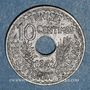 Coins Tunisie. Ahmed II, bey (1348-1361H = 1929-1942). 10 centimes 1942