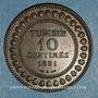 Coins Tunisie. Ali III, bey (1299-1320H = 1882-1902). 10 centimes 1308H (= 1891)