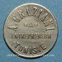 Coins Tunisie. Entrepreneur A. Graziani. 50 centimes. n. d.
