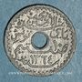 Coins Tunisie. Mohammed al -Amine, bey (1362-76H). 10 centimes 1945