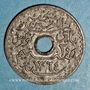 Coins Tunisie. Mohammed al -Amine, bey (1362-76H). 20 centimes 1945